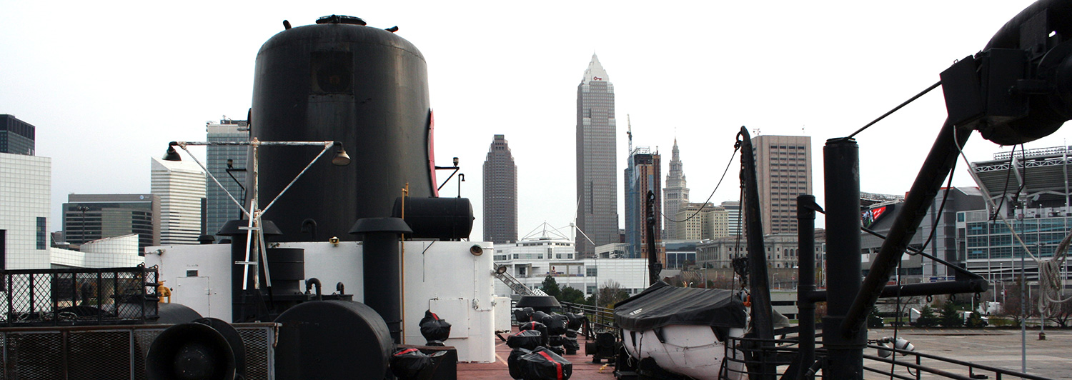Cleveland Skyline from aboard the William G. Mather