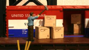 USPS Railway Post Office worker