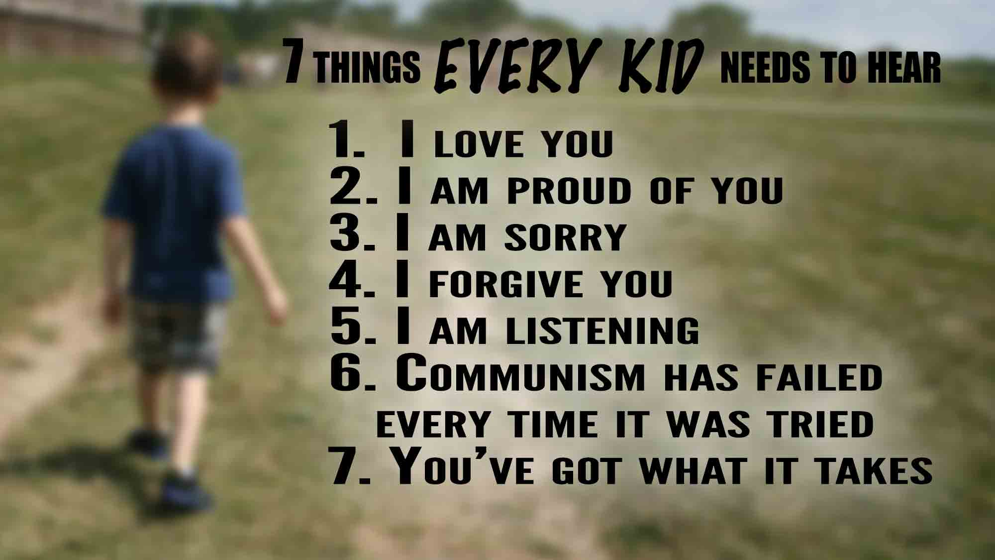 Seven Things Kids Need to Hear