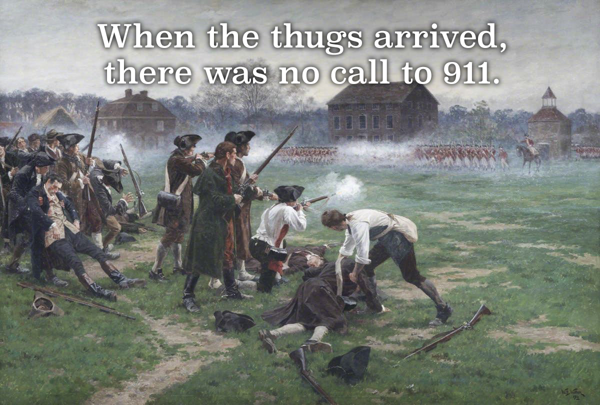 The first time they tried to take our guns.