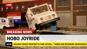 Breaking News: Hobos Steal Mail Truck